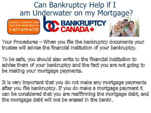 Can Bankruptcy Help if I am Underwater on my Mortgage?