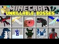 Minecraft UNKILLABLE BOSSES MOD! l BATTLE WORLD'S STRONGEST BOSSES! l Modded Mini-Game