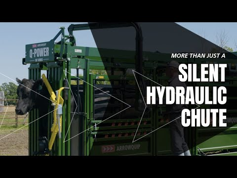 Hydraulic Cattle Chute Demo | Q-Power 107 Series Chutes For Cattle | Arrowquip