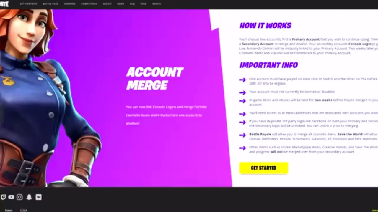 HOW TO MERGE ANY FORTNITE ACCOUNT STEP BY STEP!!! PS4 ...