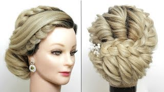 Bridal Updo Tutorial.  Wedding Hairstyle For Long Hair