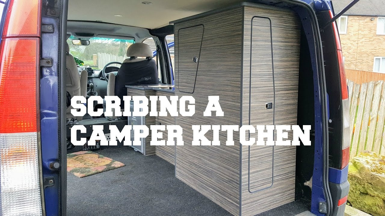 Scribing Mercedes Vito Camper Van Kitchen DIY  The