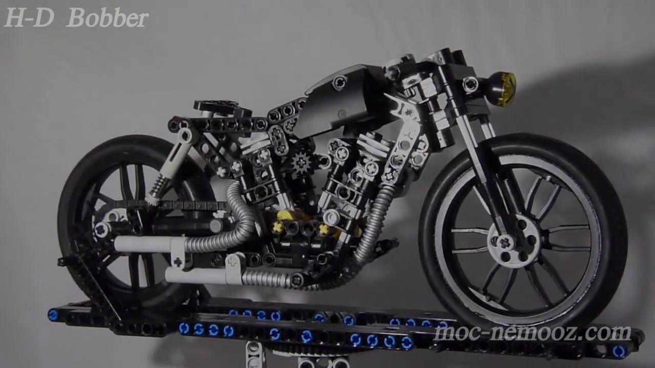 harley davidson bobber lego technic motorcycle youtube