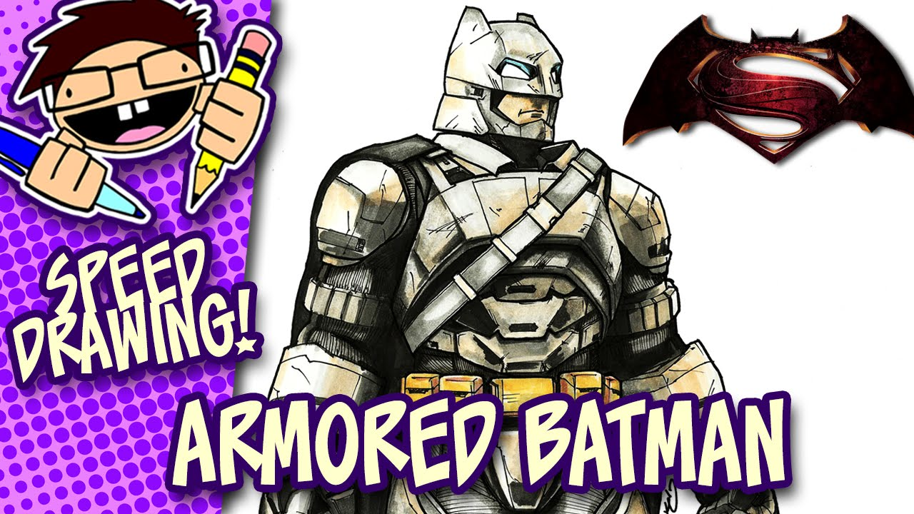 Speed Drawing Armored Batman Batman V Superman Dawn Of