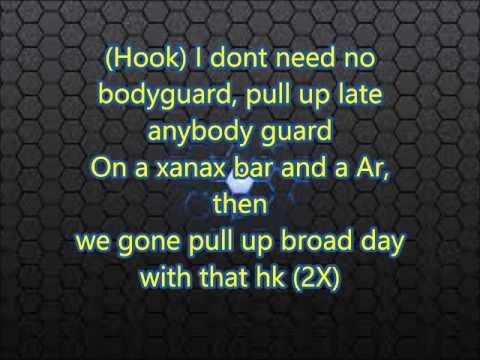 Woop - Bodyguard Ft Kodak Black (Lyrics)