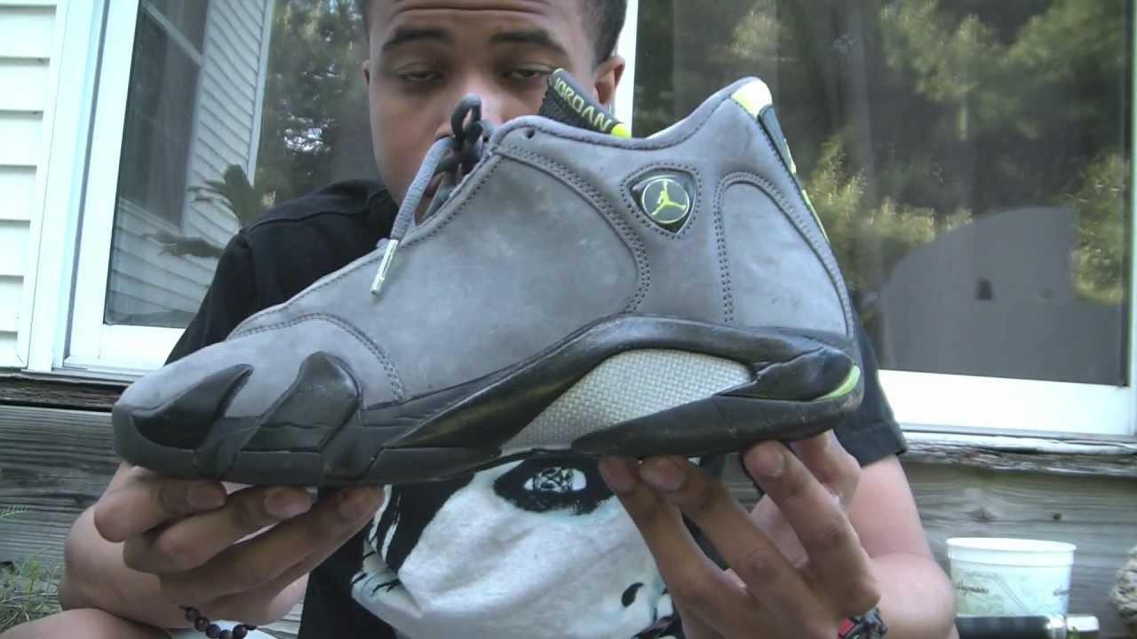 09a46de7a4f Nike Air Jordan Chartreuse 14 Review - YouTube
