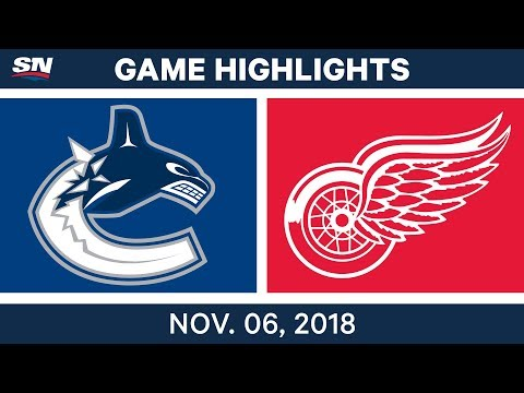 NHL Highlights | Canucks vs. Red Wings – Nov. 6, 2018