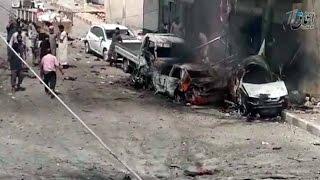 Шокирующее видео последствия налетов коалиции во главе с Америкой из сирийской провинции Алеппо.