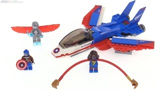 LEGO Marvel Captain America Jet Pursuit review! 76076