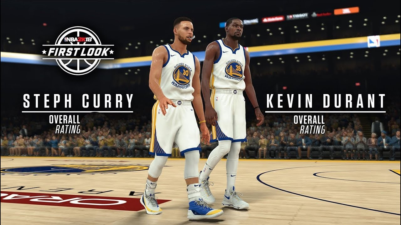 NBA 2K18 STEPHEN CURRY AND KEVIN DURANT OFFICIAL RATINGS AND SCREENSHOTS  RELEASED!