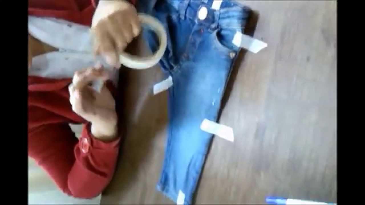 Artesanato De Palha Origem ~ Vídeo aula 8 Parte 1 3 Como tirar molde de roupa pronta You