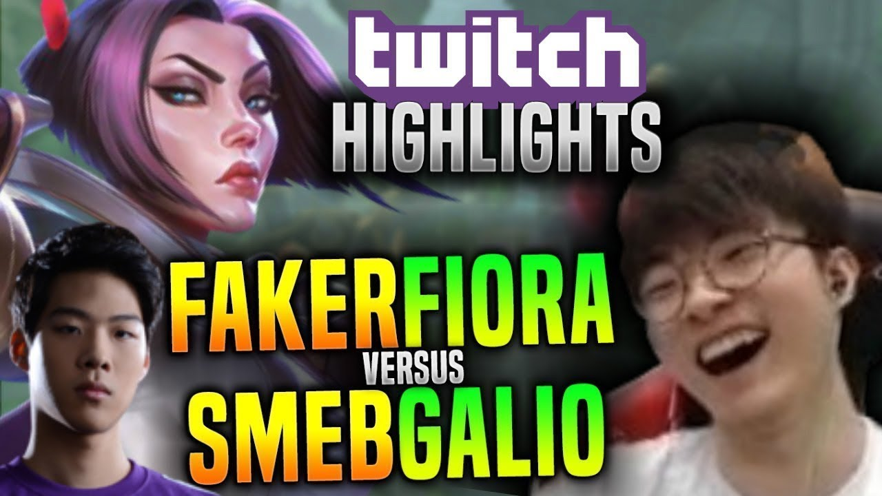 Faker Plays Fiora Mid vs Smeb Galio! - SKT T1 Faker Stream Highlights! | SKT T1 Stream