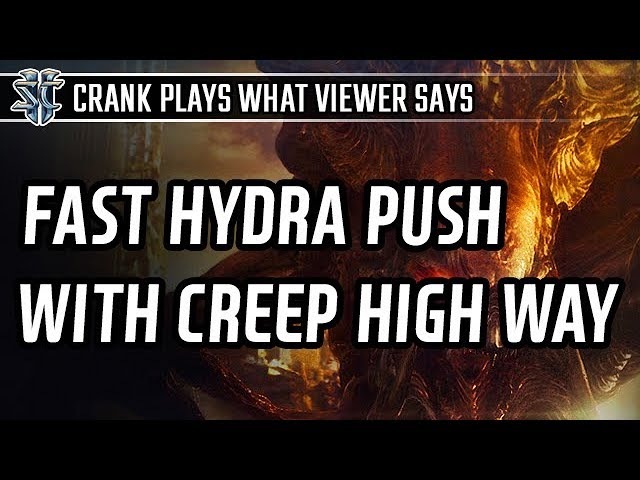 Fast Hydra push with Creep highway l StarCraft 2: Legacy of the Void l Crank