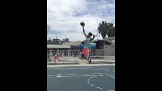 MICHAEL PURDIE does an amazing debut of his one foot on the Venice Beach courts Video