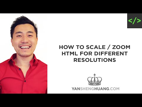 How To Scale Or Zoom HTML Page For Different Screen Resolutions