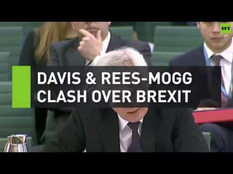 Davis and Rees-Mogg clash over Brexit