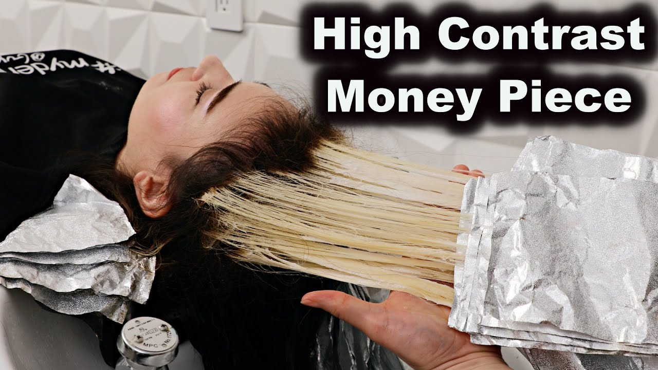 High Contrast Money Piece Hair
