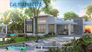 Contemporary Style Flat Roof Houses