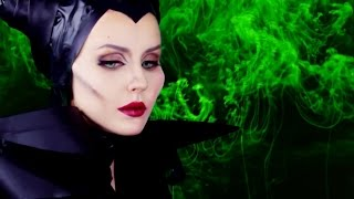 Maleficent (Angelina Jolie) Makeup tutorial by Anastasiya Shpagina