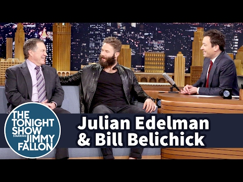 Jimmy Interviews Julian Edelman and Bill Belichick After Patriots