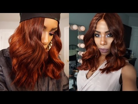 Ginger Spice/Copper Red/Fire Red Blunt Bob AliExpress West Kiss Hair Review