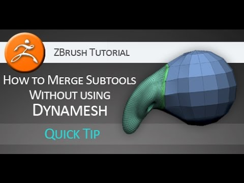 Quick Tip ZBrush Tutorial: Merge Subtools without Dynamesh
