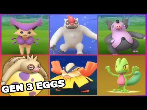 Download Youtube: POKEMON GO CATCHING GEN 3 VIGOROTH, DELCATTY, GRUMPIG & MORE | GEN 3 EGGS