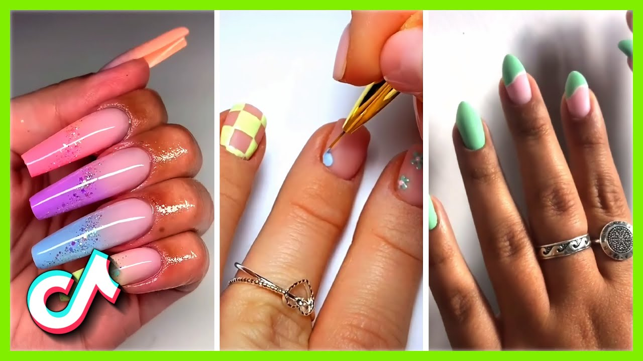 Gel Nails at Home Designs Tik Tok Compilation Nails Transformation With Gel and Polygel #9