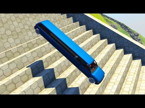 Stairs Jumps Down #8 - BeamNG.drive  