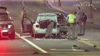 DUI Suspect Hits a Dozen Pedestrians Kills 4 / Redondo Beach   RAW FOOTAGE