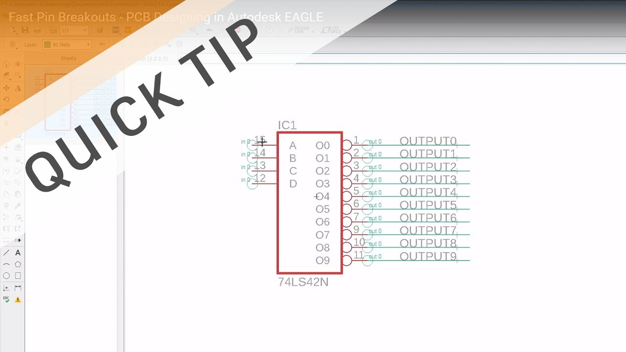 Fast Pin Breakouts - PCB Designing in Autodesk EAGLE