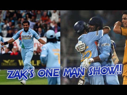 When Zaheer Khan Single-handedly Won The Match For India With Both Bat And Ball | ZAK'S ONE MAN SHOW