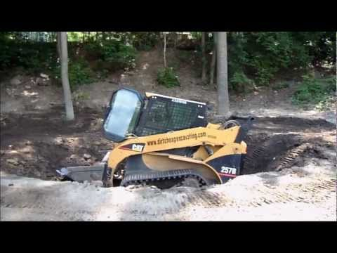 Dirt Cheap Excavating - Excavation of Pond.wmv
