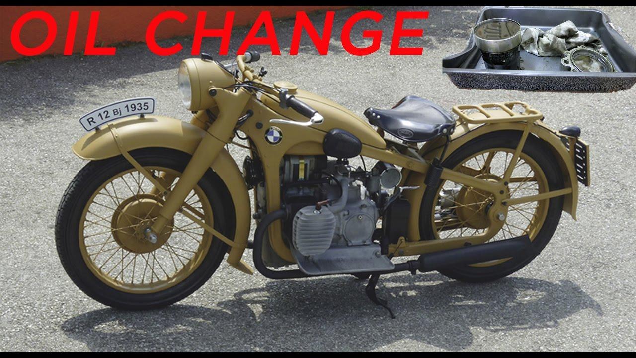 bmw r12 bmw r12 oil change, Ölwechsel - youtube