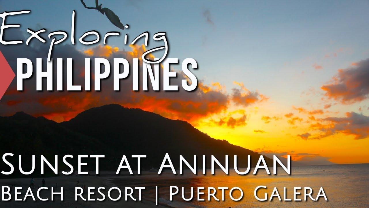 Sunset At Aninuan Beach Resort Puerto Galera Philippines Asia Travel Vlog