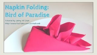Thanksgiving Table Setting - HOW TO FOLD: Bird of Paradise from a Napkin - DIY Crafts Napkin Folding