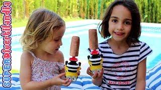 Batihelado Minions de Cola Cao en Superdivertilandia con Andrea e Irene