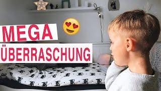 Wie süss er sich freut! 😍 Mega Überraschung für unseren Sohn! KINDERZIMMER aufpimpen VOHER / NACHHER