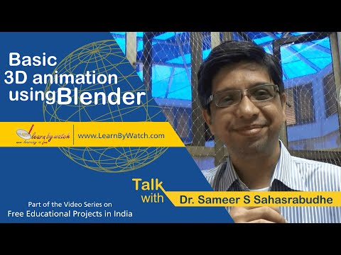Basic 3D Animation Using Blender - Free Educational Projects In India - Video 1