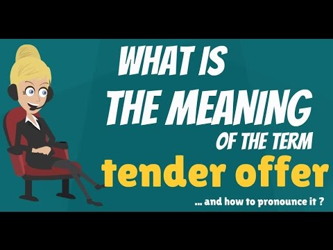 What is tender offer what does tender offer mean tender offer what does tender offer mean tender offer meaning definition explanation stopboris Gallery