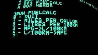 Apple II boot test & running a program