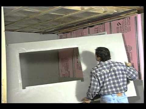 La pose des panneaux de gypse au sous sol d coration et de for Installer fenetre sous sol