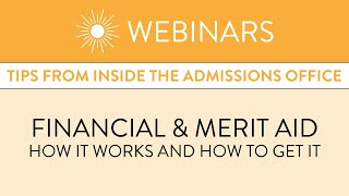 Financial & Merit Aid: How It Works and How to Get It