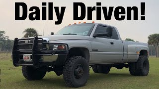 What it's like to Daily Drive a 2nd Gen 24v Cummins | 5 Speed 2nd gen Dually!