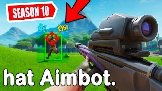 die SNIPER von SEASON 10 hat AIMBOT in Fortnite...