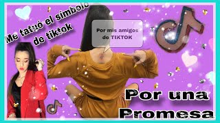 ME TATUÓ El SÍMBOLO DE TIKTOK (por 1 promesa)
