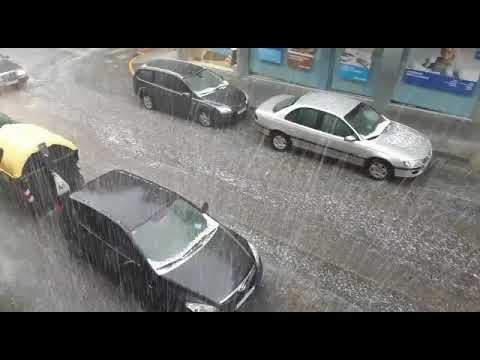 Nueva tormenta de primavera con fuerte granizada en Lalín