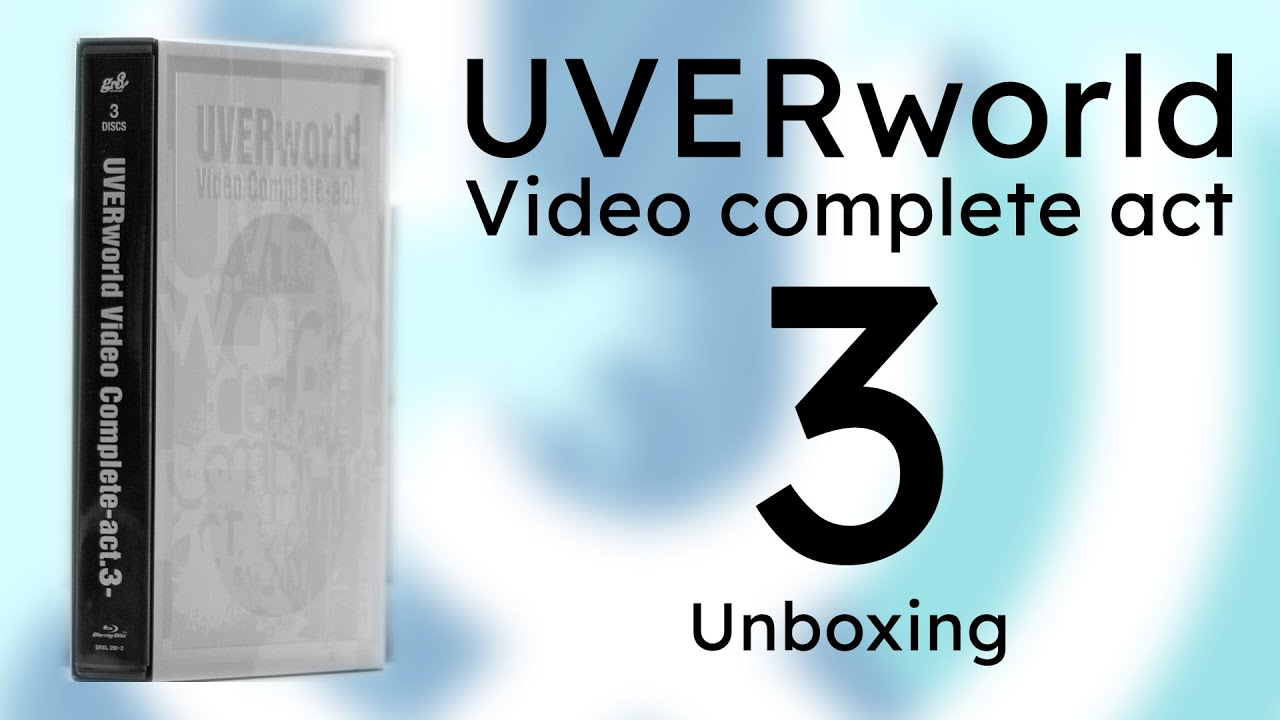 UVERworld 『Video Complete -act.3-』Unboxing