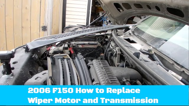 diy how to replace ford 150 wiper motor assembly