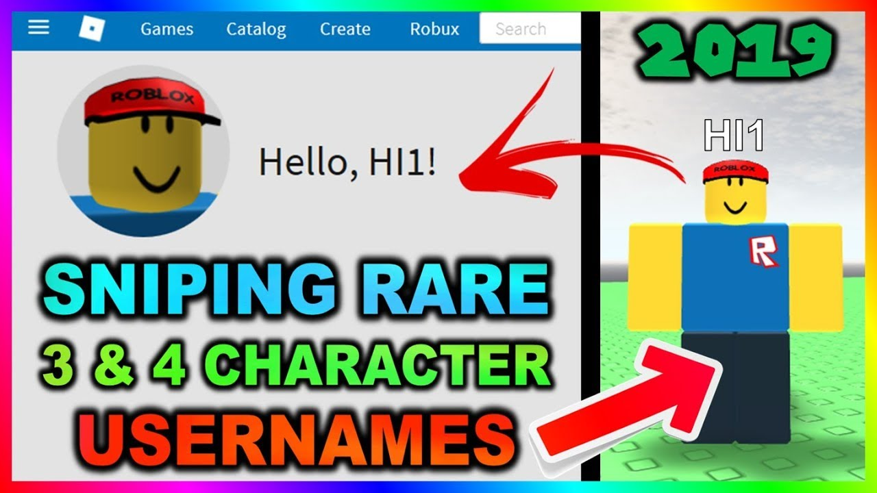 Sniping Rare 3 4 Character Usernames In 2019 Youtube